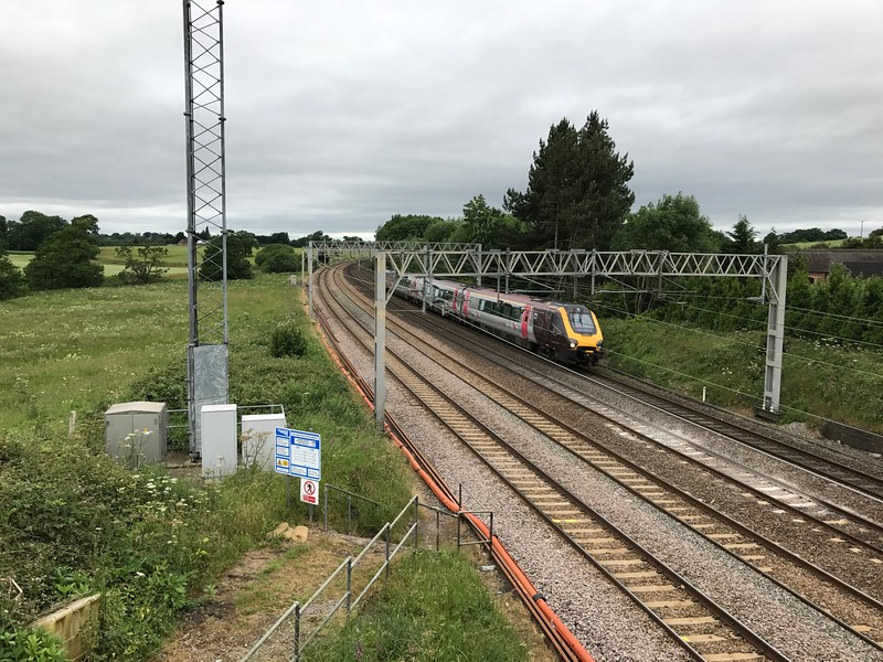 Voyager - Heamies Farm<br /> <br /> This Cross Country service is routed via Crewe and Madeley for crew route knowledge retention purposes.