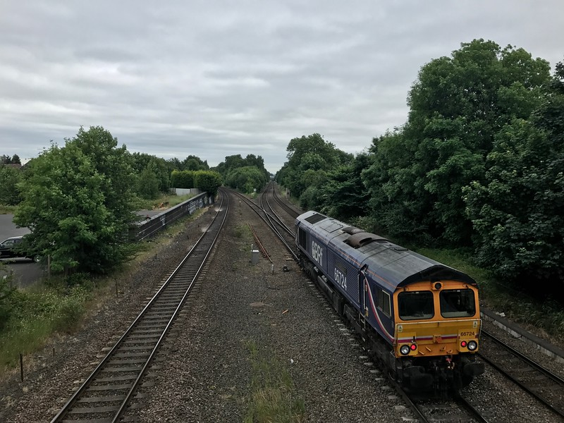 66724 - Water Orton<br /> <br /> 0G15 14:12 Bescot Up Engineers Sidings to Hams Hall GB Railfreight