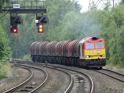 60001 - Water Orton  6E08 13:03 Wolverhampton Walsall Street Steel Terminal to Masborough Freight Depot