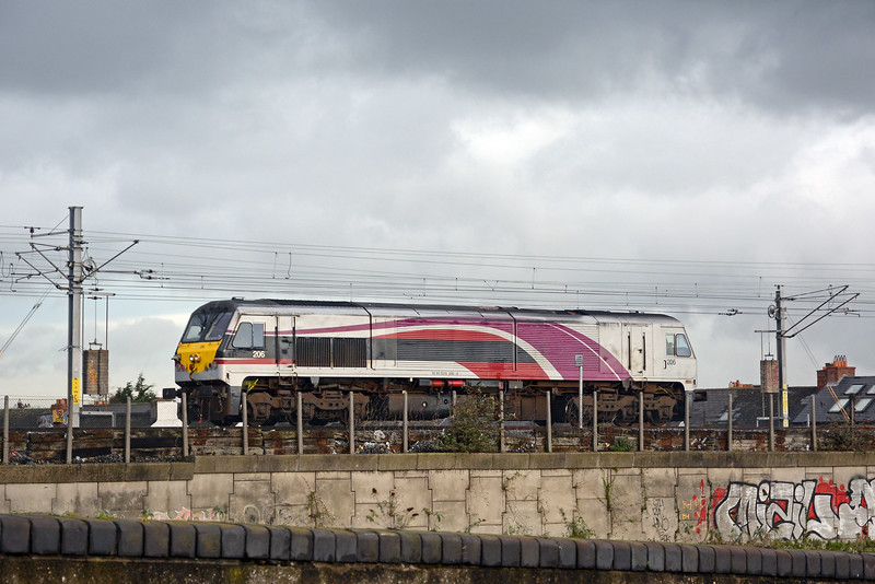 A class 201 in Enterprise livery appeared, presumably being serviced after arriving from Belfast.