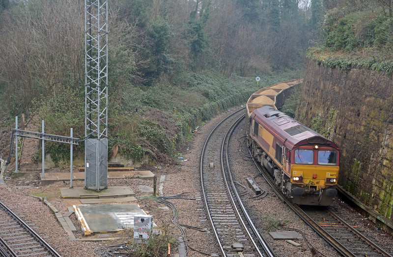 The first diversion I was in a position to photograph was the 6M95 WFO Cliffe to Neasden, also coming off the Bexleyheath Line at Blackheath Junction.