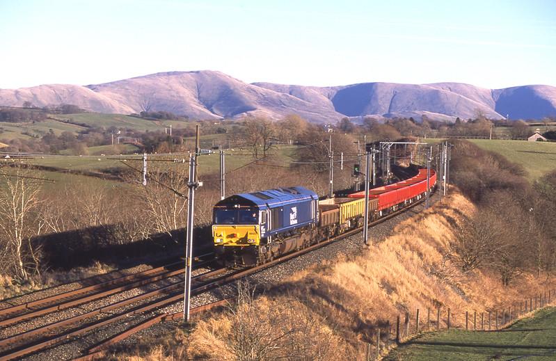 66423 passes Docker with the Carlisle - Crewe departmental, 5/1/2017.
