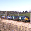 68002 Intrepid and 68023 Achilles are seen near Grayrigg with the Tesco's, 24/3/2017.