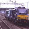 """88002 Prometheus passes Oxenholme """"pan down"""" with the Crewe - Kingmoor return leg of its second light engine test run, 28/3/2017."""