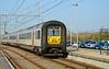 Belgium railways AM96 emu 527 is seen awaiting its next turn of duty at De Panne station 28/03/2017.