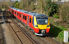 SWT Desiro City 707006 + 004 are seen at Wokingham on 5Q32 Reading - Staines up loop test run 06/03/2017.