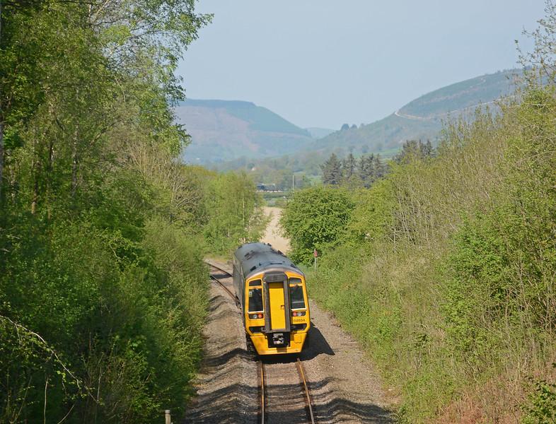 between Newtown / Drenewydd and Caersws
