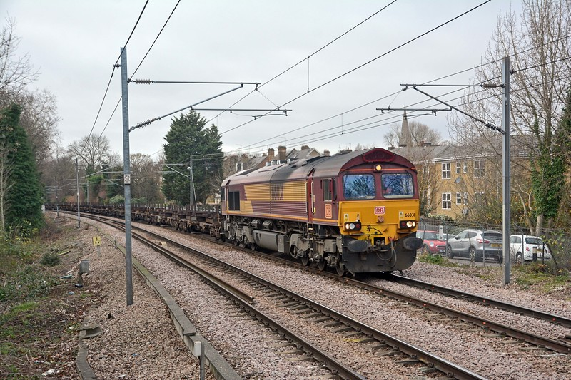 ...and, secondly, 66031 on the 4E26 Dollands Moor to Scunthorpe empty steel.