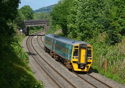 The 10:20 ex Holyhead was running 34 minutes late today. Six of those were lost at Tram Inn waiting for the Dub and Grub to clear the 17.25 mile block to Abergavenny, Pontrilas being out of circuit.