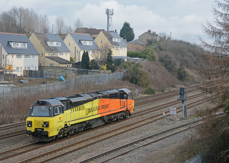 In the opposite direction 70817 on an LE move to Avonmouth.