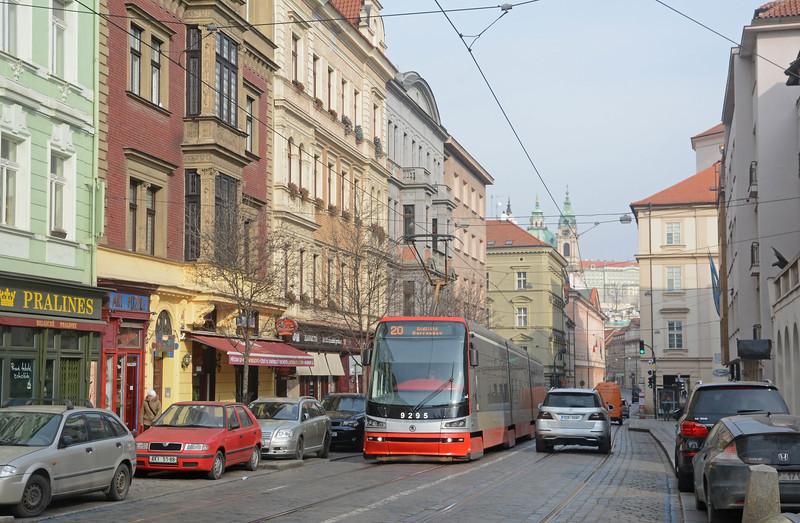 In Mala Strana a 15T heads south towards the Ujezd stop.