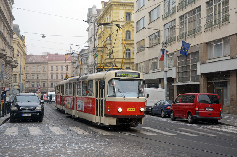 A couple of stops from Wenceslas Square a pair of T3s on a 9.