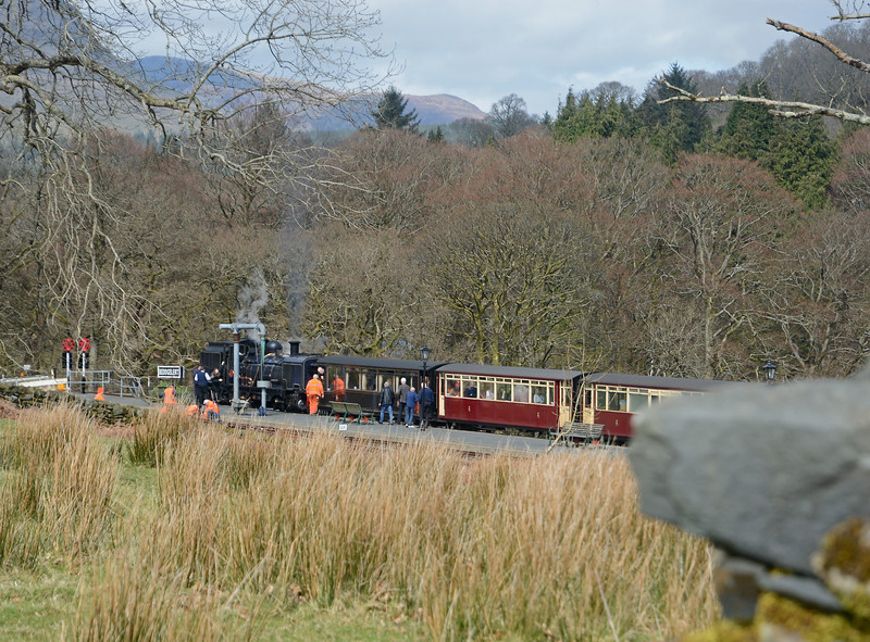 In the past Snowdonian patrons de-trained at Beddgelert for lunch at the Royal Goat, but this year a refurbishment meant that lunch was going to be taken at the Snowdonia Parc, Waunfawr. 87 just takes water.