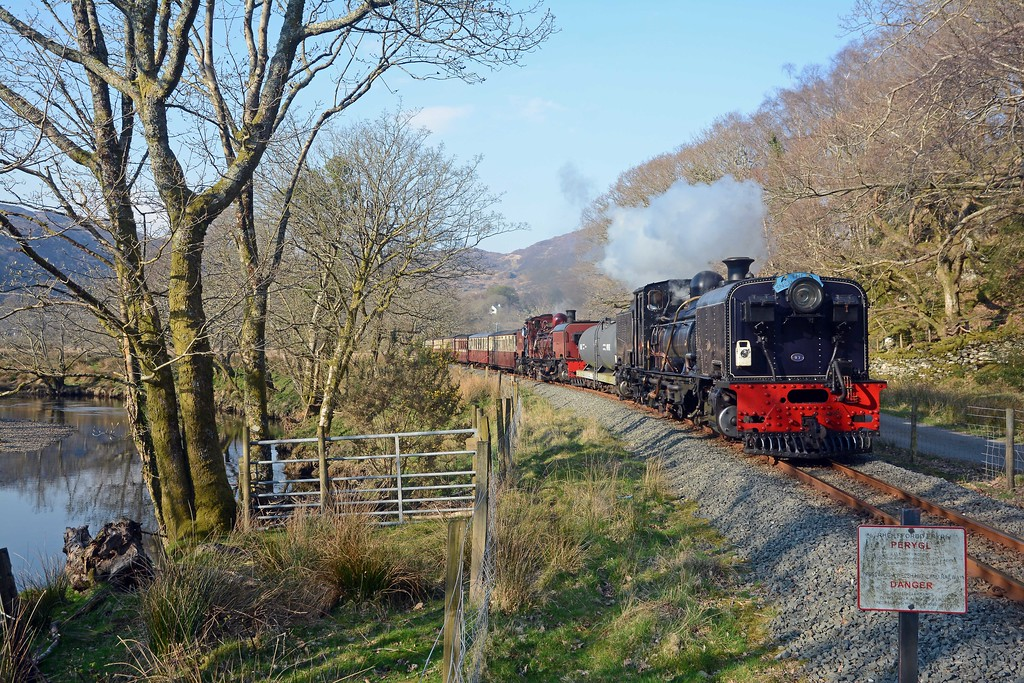 Final picture, as the train coasts along the Afon Glaslyn. A memorable day.