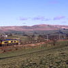 66738 Huddersfield Town passes Hayfell with a Longtown - Bescot consignment of fresh air, 2/2/2018.