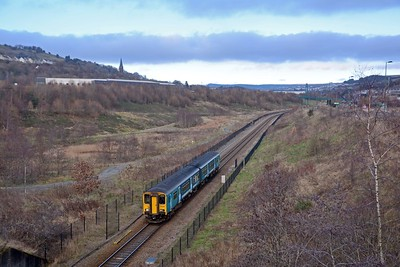 Services are still quite sparse on the Ebbw Vale line, just one train an hour. And you never know what might show up, it could be a Pacer or a 175. In this case the 10:37 to Cardiff was a 150.