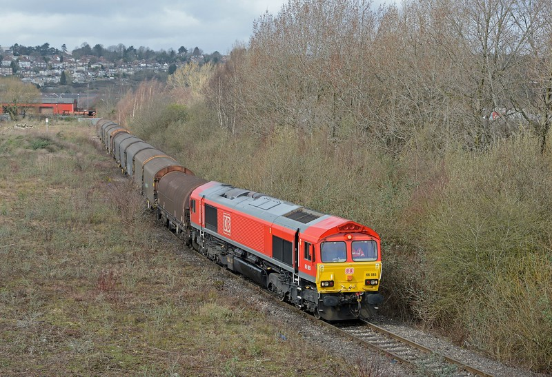 The second of two trains from Margam carrying loaded steel, this was shorter than the earlier 6F05. There was also a train from Llanwern too.