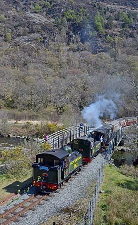 Crossing the Afon Glaslyn