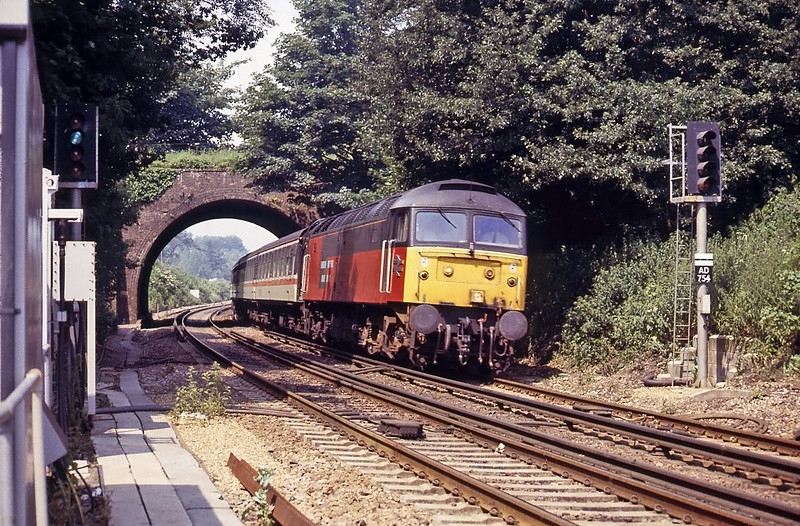 This was a surprise, a Eurotunnel shareholders special to Folkestone passing Sandling.
