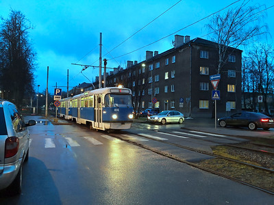 Although Daugavpils has taken delivery of new trams it still has some old Tatra T3s formerly from Schwerin. They are only used in rush hours today.