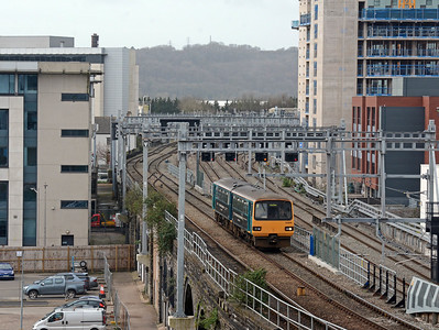 In the opposite direction a single 143 Pacer climbs towards Queen Street on a City Line service to Coryton.