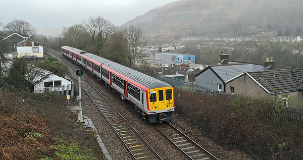 I waited for 3Z70 to return, they are noticeably quiet despite the two diesel power packs. Whether they will be suitable for the Rhymney Line only time will tell, their acceleration is 25% slower than a Pacer.