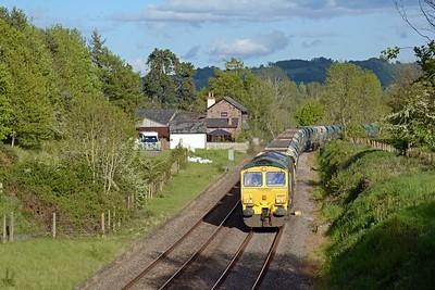 66601 on 6B84 Stoke Gifford to Moreton on Lugg, 24 HIA hoppers.
