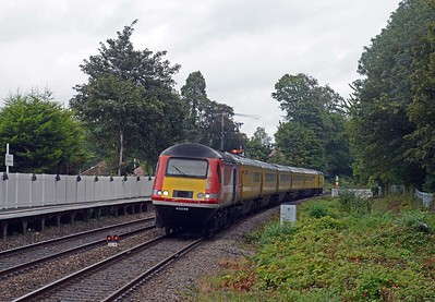 Behind the tin rockets and running a few minutes late 43299 on the 1Q20 Crewe to Derby via Newport and Crewe Test Train.