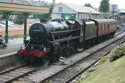 44932 heads off for coal and water at Swanage after arriving with 'The Swanage Belle' 19/6/14