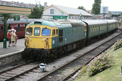 33111 arrives at Swanage with the 1400 Norden - Swanage 19/6/14
