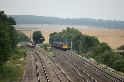 33029 passes Cholsey with 5Z36 1257 Southall - Bristol Kingsland Road ECS (for the next days steam tour from Bristol to Weymouth) 26/7/14