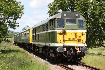 31414 departs Shottle with 1215 Wirksworth - Duffield 6/6/15