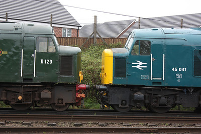 Twin Peaks, 45125 & 45041 at Loughborough 25/4/14