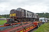 The loco arrives at Bo'ness from Carnforth.<br /> 22nd September 2017.