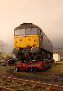 47799 from another angle. The tractor unit had been moved so more ash could be added to the ground to level it off more.