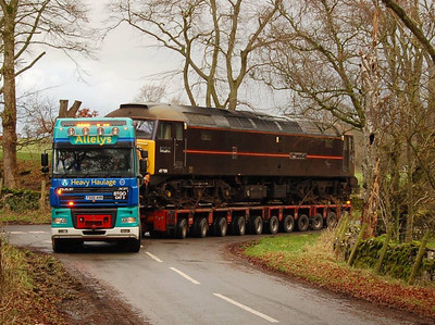 More of the loco in view as the turn is made on 22nd December 2011
