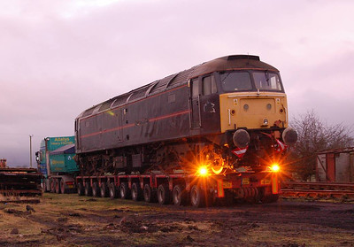 47799 on the trailer in the evening of 22nd December.