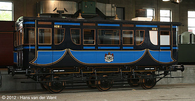 Replica of the Royal train of King Willem II, 1848.