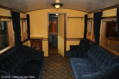 Interior of the Royal train of king Willem II, 1848.