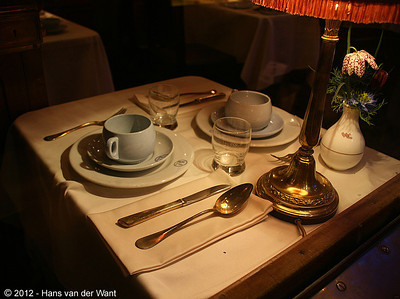Interior of a CIWL-coach of the Orient Express.