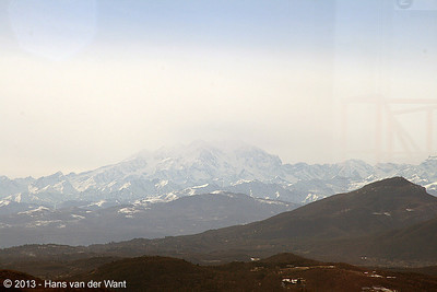 21 march 2013, View from Brunate on the Monte Rosa.