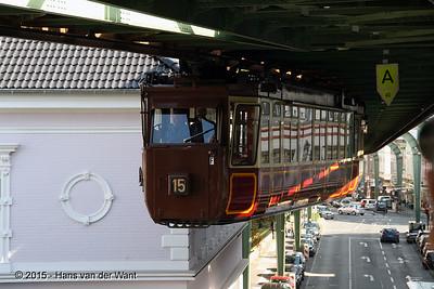 18 September 2015. Wuppertaler Schwebebahn