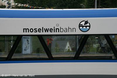 "Moselweinbahn dmu ""RegioShuttles""  in Bullay (8 sept 2017)."