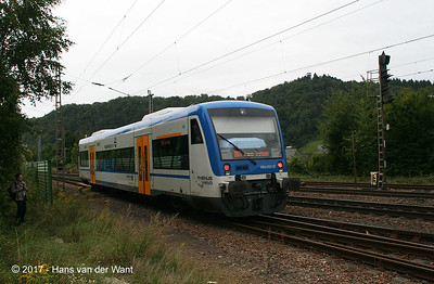 "A ""RegioSuttle"" on its way to Traben-Trarbach (8 sept 2017)."