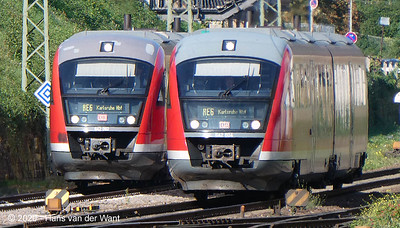 Trains in Neustadt Weinstrasse railwaystation.