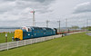 55007 ( 55022 ) departing Bo'ness on 1st May 2016.