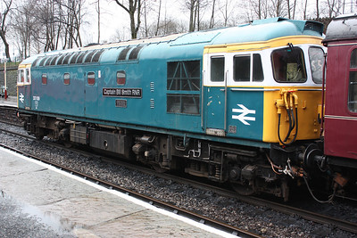 33109 'Captain Bill Smith RNR' Bury, therming nicely with the 1245 Rawtenstall - Heywood 15/2/14