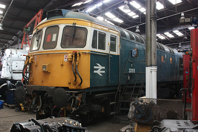 33108 undergoing winter maintenance at Barrow Hill (photo taken with permission) 16/2/14