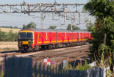 325 006 passes Cranberry running as 5J03 09.00 Crewe TMD to Crewe TMD via Stafford on a test run after repairs. Tuesday 19th July 2016.