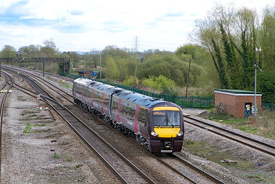 170105 forming the 10.11 Nottingham to Cardiff Central passes Magor. Wednesday 11th April 2012.
